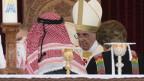 Der Papst wird in Jordanien empfangen.
