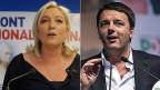 Einer von vier Stimmenden wählte in Frankreich Marine le Pens Front National: «Unser Volk will nur eine Politik: Die Politik von Franzosen, für Franzosen, mit Franzosen». Im Nachbarland Italien hingegen war Matteo Renzis Partito Democratico siegriech.