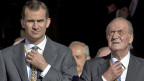 Der spanische Kronprinz Felipe und König Juan Carlos, auf einem Bild vom Dezember 2011.