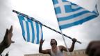 Protestmarsch gegen Griechenlands harte Sparmassnahmen im Zentrum von Athen im Februar 2014.