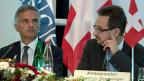 OSZE-Präsident Didier Burkhalter und OSZE-Botschafter Thomas Greminger an der Konferenz in Bern,