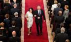 Andrej Kiska mit Frau bei der Amtseinsetzung