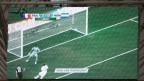 Video-Wiedergabe mit der Torlinien-Technologie des Goals von Karim Benzema während der WM 2014.