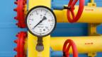 Ein Manometer in einem unterirdischen Gasspeicher in der Ortschaft Mryn, 120 km nördlich von Kiew.