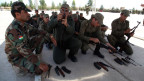 Mitglieder der kurdischen Sicherheitskräfte in Erbil, der Hauptstadt der autonomen kurdischen Region im Nordirak, am 18. Juni 2014.