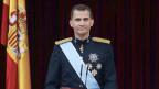 König Felipe der VI. während seiner königlichen Rede am 19. Juni 2014.
