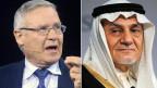Israels Geheimdienstchef Amos Yadlin (links) und der ehemalige Leiter des saudischen Geheimdienstes Prinz Turki Al Faisal Al Saud.