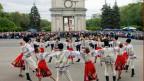 Tänzer auf dem Grossen Nationalversammlungsplatz während der Feier des Europa-Tages in Chisinau, Moldawien, am 9. Mai 2014.