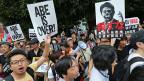 Proteste gegen die Politik Shinzo Abes in Tokio.