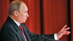 Der russische Präsident Wladimir Putin während seiner Rede zur Lage in der Ukraine.