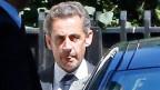 Nicolas Sarkozy beim Verlassen seines Hauses, am 2. Juli in Paris.