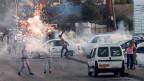 Ausschreitungen zwischen Palästinensern und israelischen Sicherheitskräften.