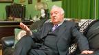 Eduard Schewardnadse bei einem Interview im November 2003 in der georgischen Hauptstad Tiblis.