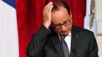 Präsident François Hollande vor der Medienkonferenz zum Sozialgipfel in Paris.