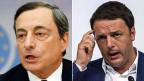 EZB-Chef Mario Draghi und der italienische Premier Matteo Renzi.
