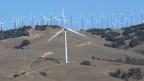 Windturbinen bei Tehachapi, Kalifornien, USA.