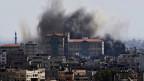 Gaza-Stadt ist weiterhin unter Beschuss.