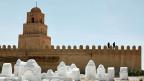 Die grosse Moschee in der Stadt Kairouan.