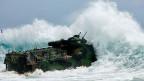 Rimpac-Manöver: Ein US-Marinekorps in einem amphibischen Panzerfahrzeug.