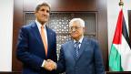 US-Vermittler John Kerry und der palästinensische Präsident Mahmut Abbas in Ramallah. Amin, ein kleiner Angestellter in Ramallah, würde zu ihm sagen: «Nehmen Sie das Leid der Palästinenser wahr, unterstützen Sie Israel nicht bedingungslos».