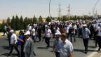 Irakische Christen protestieren in Erbil gegen ihre Vertreibung am 24. Juli 2014.