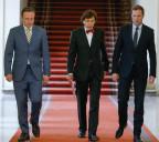 Belgische Parteiführer nach Koalitionsgesprächen