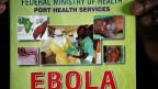 Informationen über Ebola am Flughafen der nigerianischen Hauptstadt Lagos.