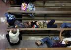 Flüchtlinge in einer Kirche in Erbil