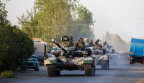 Aserbaidschanische Panzer rücken vor