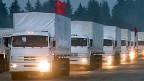 280 weisse Lastwagen mit Hilfsgütern haben am Dienstagmorgen die Region Moskau in Richtung ukrainischer Grenze verlassen.