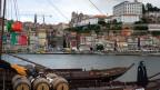 Sicht auf den Hafen am Duoro in Porto.