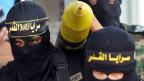 Viele ziehen in den Dschihad, um zu sterben. Maskierte Kämpfer des Islamischen Staats IS.