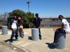 Jugendliche in Hunters Point, einem herunter gekommenen schwarzen Quartier am Rand von San Francisco.