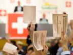 Die SVP-Delegierten stimmen Nein zur Ecopop-Initiative