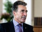 Anders Fogh Rasmussen, NATO-Generalsekretär, bestätigt den Bericht über russische Artillerie in der Ukraine