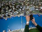 Ein Modell der geplanten Neugestaltung des Belgrader Hafenviertels