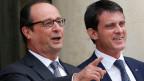 Präsident François Hollande (links) und Premierminister Manuel Valls.