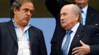 Fifa-Präsident Sepp Blatter (rechts) und Uefa-Präsident Michel Platini.