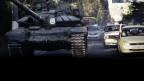 Aufnahme eines T-72BM Kampfpanzers zur Unterstützung pro-russischer Separatisten in der Ukraine. Die Bilder festigen nachdrücklich die Behauptung, dass Russland Waffen an separatistische Kräfte liefert.