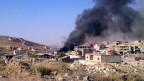 Rauch über Arsal, einer sunnitischen Stadt nahe der syrischen Grenze im Osten Libanons.