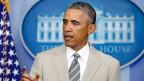 US-Präsident Barack Obama im Weissen Haus vor einem Treffen mit dem Nationalen Sicherheitsrat in Washington am 28. August 2014.