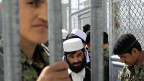 Afghanische Gefangene im Gefängnis von Bagram.