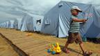 Ein Zeltlager für Flüchtlinge in der Nähe der südrussischen Stadt Rostow.