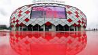 Die EU diskutiert auch einen Boykott der Fussball-WM 2018 in Russland. Bild: Das Stadion von Spartak Moskau.