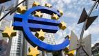 Der Sitz der Europäischen Zentralbank EZB in Frankfurt.