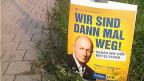 «Wir sind dann mal weg» - Wahlplakat der FDP Thüringen. Selbstironie?