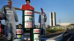 Bereits im Mai gab es in der brasilianischen Hauptstadt Proteste wegen Korruption bei Petrobras.