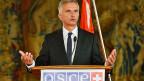 Bundespräsident Didier Burkhalter als OSZE-Vorsitzender, am 10. September in der tschechischen Hauptstadt Prag.
