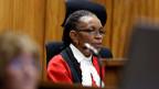Richterin Thokozile Masipa verkündet ihr Urteil im Prozess gegen den Paralympischen Star Oscar Pistorius in Pretoria am 12. September 2014.