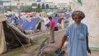 Zeltlager der Demonstranten auf der Constitutional Avenue, wo Imran Khans und Qadris Anhänger seit mehr als einem Monat ausharren.